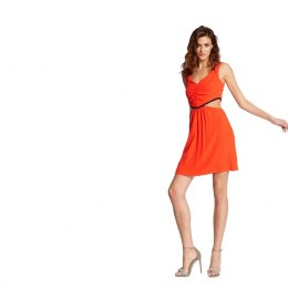Morgan dress RANA.F ORANGE