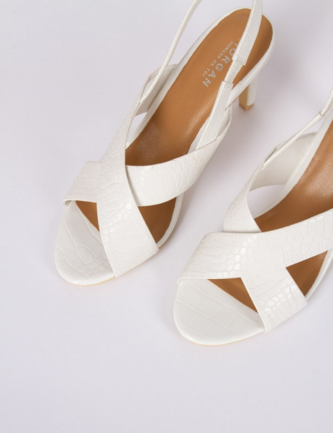 Morgan Sandals With Heel 1CRACK.N BLANC