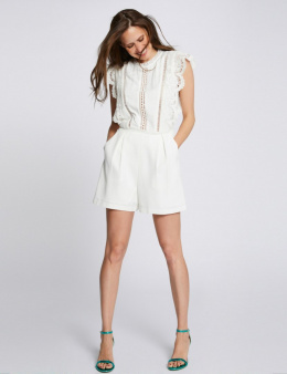 Morgan Shorts SHAMA.P OFF WHITE