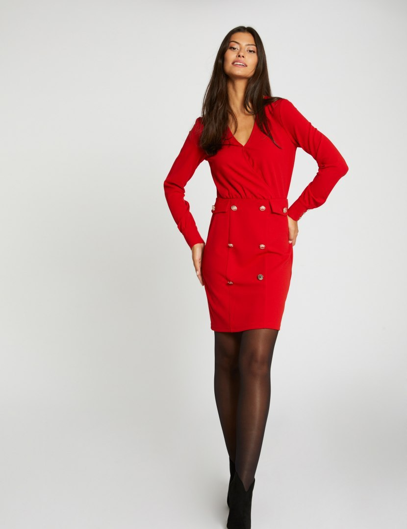 Morgan Dress RED.W RUBY